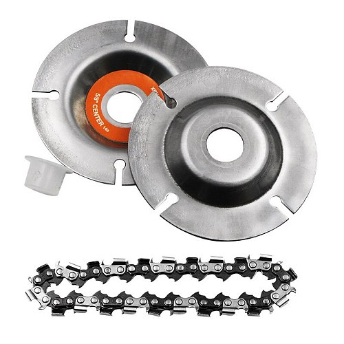 4/4.5/5inch Grinder Disc and Chain Fine Abrasive Cut Chain 100/115/125 Angle Grinder Wood Carving Disc Cutting Shape