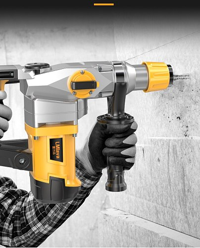 High Power Heavy Impact Electric Hammer 2580W 220V Concrete Breaker 30S Quickly Breaks The Wall 360 Degree Rotary Power Tools