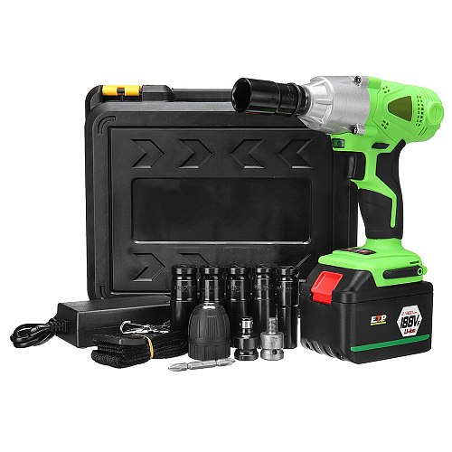 Electric Cordless Impact Wrench Drill 0-2500 RPM Screwdriver With Socket Set Woodworking Tool 98/128/168/188VF