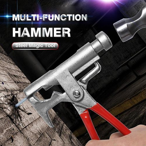 Multi-Function Hammer Steel Magic Tool Screwdriver Electrical Nail Gun Pipe Pliers Wrench Clamps Pincers