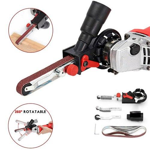 NEWONE Mini Sander Sanding Belt Adapter Bandfile Belt Head Sander for M10/M14 Electric Angle Grinder