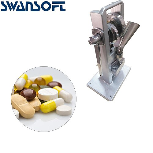 SWANSOFT Manual Single punch tablet press/ pill press machine / pill making / (lightest type) TDP-0 /hand-operated