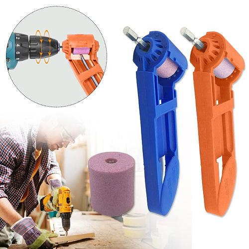 2-12.5mm Portable Drill Bit Sharpener Corundum Grinding Wheel Portable Powered Tool for Drill Polishing
