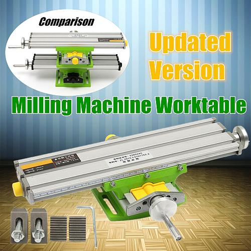 New 2 Axis Compound Cross Slide Working Table Adjustment X-Y Milling Working Cross Table Bench Vise Drilling Table BG6330