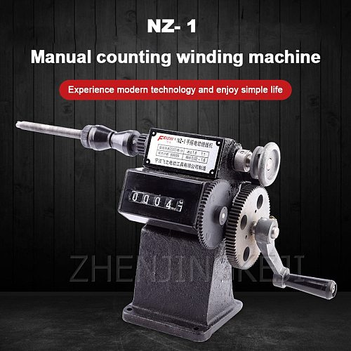 NZ-1 Hand Crank Electric Electronic counting Winding Machine Home Stranded wire Count Cast iron Body Plastic Mechanical Counter