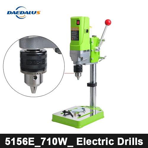 MINIQ BG-5156E Bench Drill Stand 220V 710W Electric Bench Drilling Machine Drill Chuck 1-13mm HT2600 For DIY Wood Metal Electric