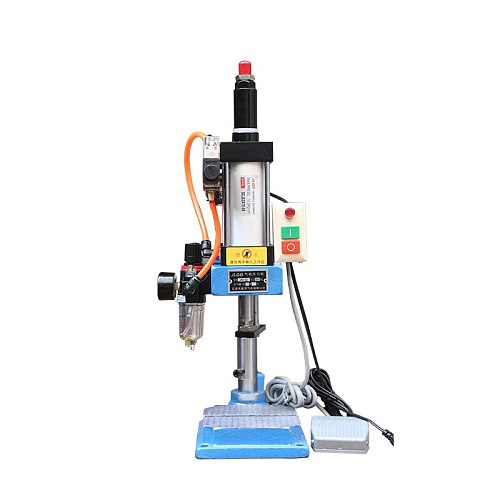 Pneumatic Punching Machine Hand Press Machine Adjustable Force 200KG Pneumatic Puncher 110V/220V Single Column