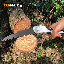 Brand Hand Fold Saw Woodworking Cutting Tools TPR Handle Collapsible Sharp SK5 Steel U-Shaped Turbine Saw