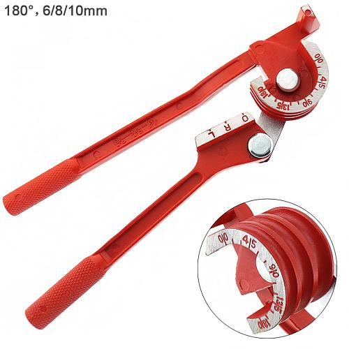 3 In 1 180 degree 6mm / 8mm / 10mm Pipe Tube Bender / Copper Tube / Air Conditioning Tube Manual Elbow Tool
