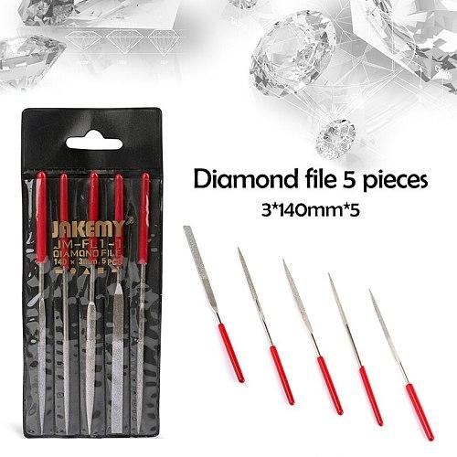 5Pcs/set 140mm Metal Needle Files Set Carving Jewelry Diamond yarn Carving Craft Tool  Wood Craft Tool Free Shipping