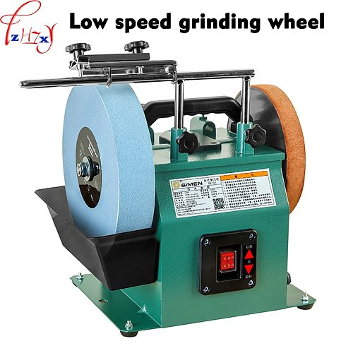 10 Inch Low Speed Grinder Positive And Reverse White Corundum Grinding Machine Water-cooled Grinder Polishing Machine 220V 1PC