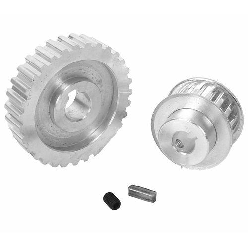 ABSS-2Pcs Metal Synchronous Pulley Gear Motor Belt Gear Drive Wheel Gear S/N Cj0618 Mini Lathe Gears , Metal Cutting Machine G