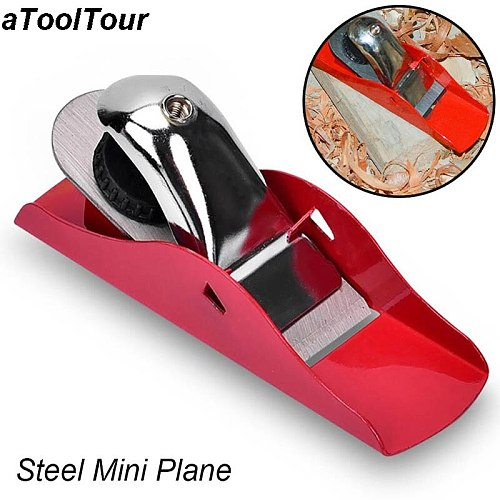 Portble Tool Flat Planer Mini Wood Plane Steel Bottom Edge Hand Planing Woodcraft Woodworking Plane For Carpenter Woodcraft DIY