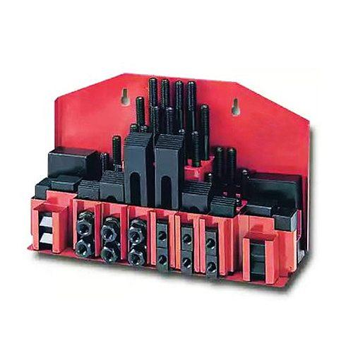 M10 Milling Machine Tool Combination Platen Mold Parts 58PCS/Set Milling Machine Pressure Plate Universal Clamp Group Code Iron
