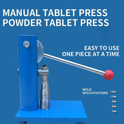 Manual Tablet Press Powder Tool Small Tablet Press Household Tablet Machine Laboratory Tablet Press Manual Cake Press Machine