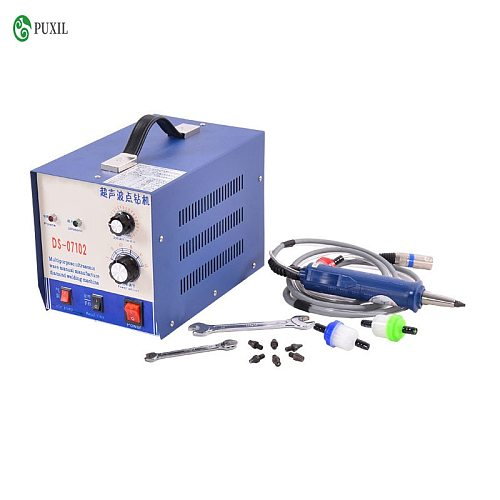 DS-07102B ultrasonic dot drilling machine, ultrasonic drilling rig ultrasonic machine hotfix stones beads