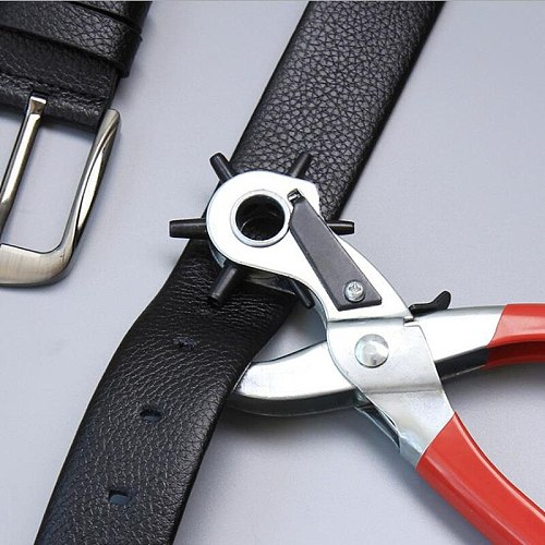Leather Belt Hole Punching Machine Punch Plier Round Hole Perforator Tool Make Hole Puncher for Straps Cards Watchband