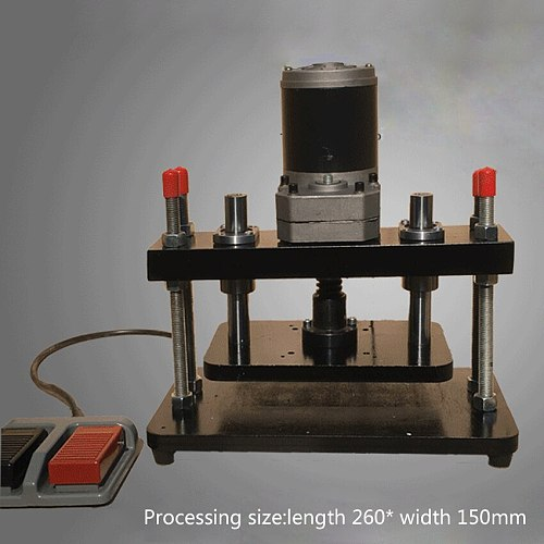 New 110-220V 200W Electric Standard Small Die Cutter Press EVA PVC Die-cutting Machine Leather Flattening Machine (260*150mm )