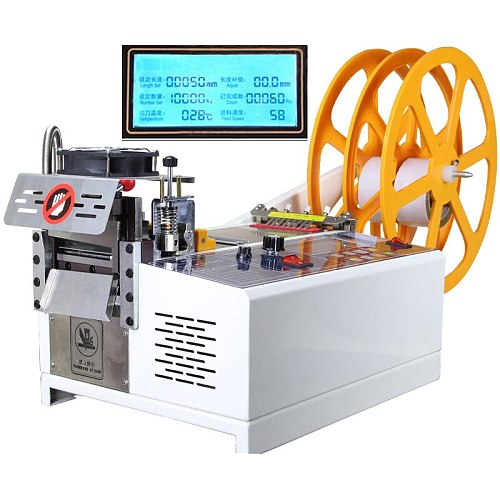 988T Automatic tape cutting machine by computer hot and cold cutting machine elastic tape cutting machine 110V / 220V 400W