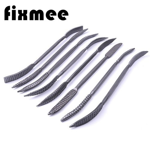 wood rasp file Set 8pc 200mm wood carving rifler rasping double ended