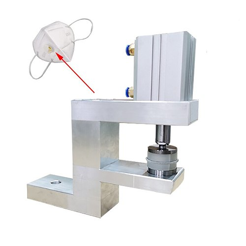 N95 breathing valve installation machine, pneumatic press, fixed breathing valve