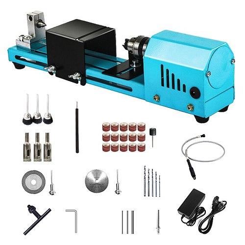 150W Mini Lathe Beads Machine Miniature Buddha Pearl Lathe DIY Woodworking Buddha Pearl Lathe Machine Drill Rotary Tool 12V/24V