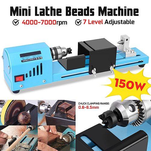150W  DIY Woodworking Wood lathe Mini Lathe Machine Tool Milling machine Grinding Polishing Beads Drill Rotary Tool Lathe Standa