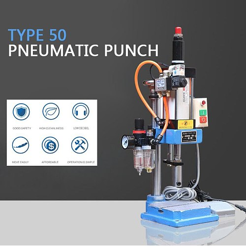 Single column pneumatic press JNA50 pneumatic punching machine small adjustable force 200KG pneumatic punch 110/220V