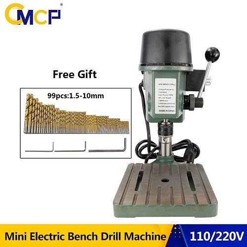110V/220V Mini Electric Bench Drill Machine With 99pcs HSS Drill Bit Set Drill Stand Table For Drilling Bench Drilling Machine
