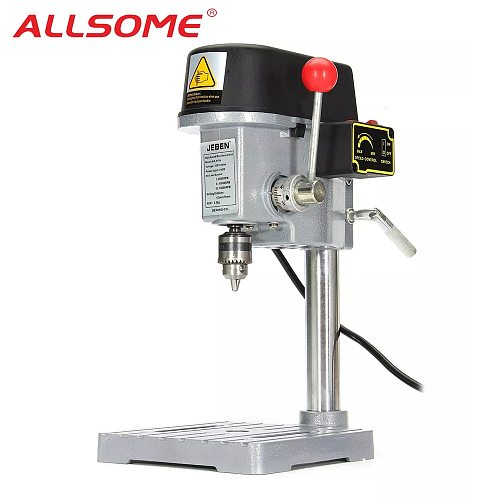 ALLSOME 220V 340W Electric Drill Stand Mini Table Top Bench Drill Stand Holder DIY Bracket Fixed Frame