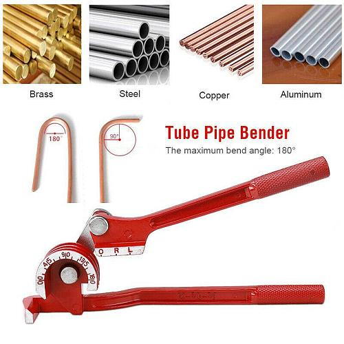 3 In 1 180 degree 6/8/10mm Pipe Tube Bender / Copper Tube / Air Conditioning Tube Manual Elbow Tool