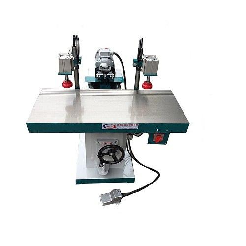 380v Woodworking Drilling Machine Semiautomatic Mechanical Horizontal Multi-axis Three head Drilling Slot Level flat Drill 1.1kw