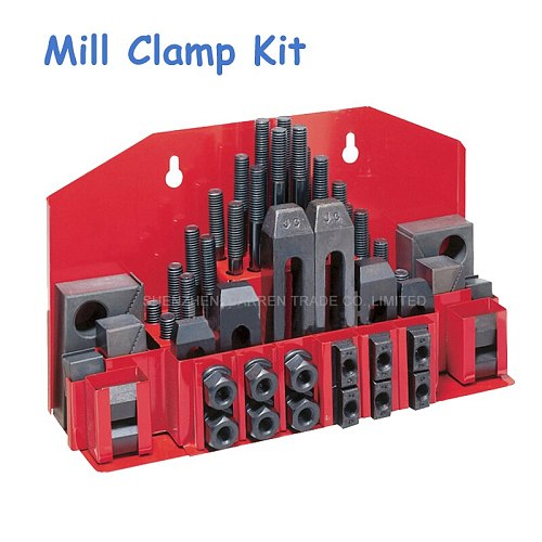 Milling Machine Clamping Set 58pcs Mill Clamp Kit Vice M12 Universal Fixture Set Pressure Plate