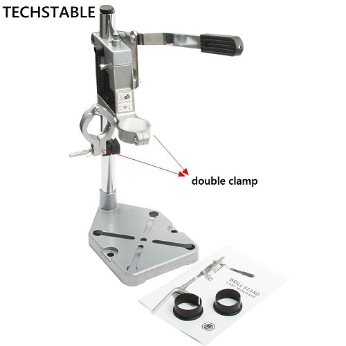 China Aluminum Drill Bench Bracket with Double Head Drill Base Electric Drill free shipping