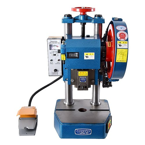 JB04-0.5T Small Punch Press Electric Punching Machine Pedal Manual Dual-purpose Desktop Punching Machine 220V/380V 0.25Kw 120MM