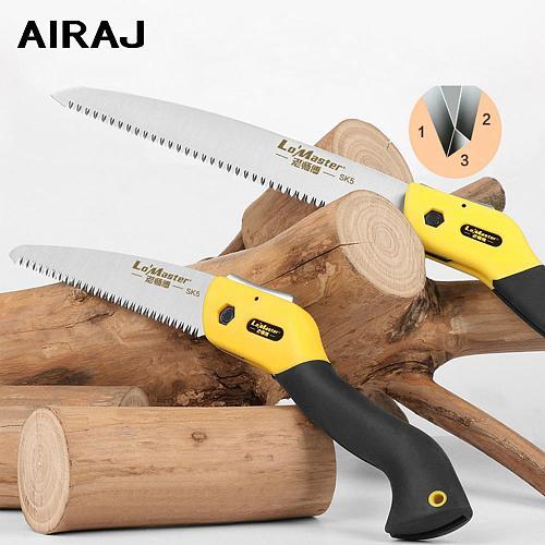 AIRAJ 7/10/11 Inch Folding Saw Garden Handmade Wood Cutting Tool Home Woodworking Cutting Branch Trimming Handsaw