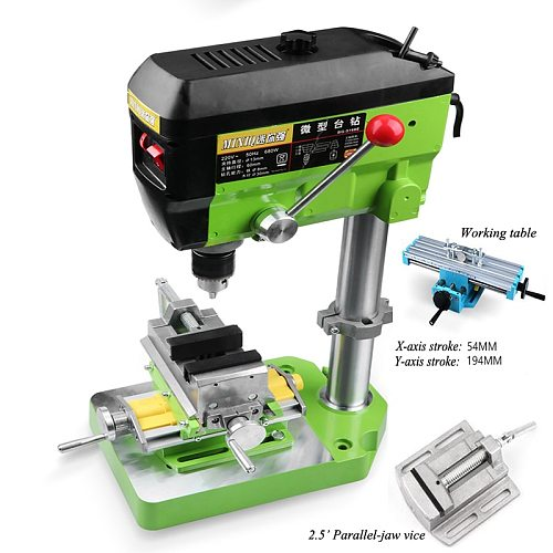 Drilling Machine Milling Small Fresadora Table Drill Press Mill Machine 680W 220v Multi-function Industrial Beads Making Tool