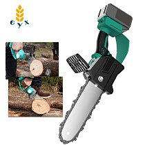 charging single section flashlight chain saw orchard trim small household wireless lithium battery multi-function logging saw