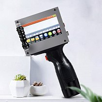portable hand jet handheld Touch inkjet printer for logo/ expiry date/batch code/serial number/label/barcode/QR code