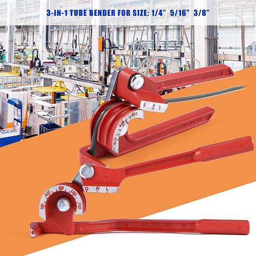6mm/8mm/10mm Tubing Bender Pipe Bending Tool Heavy Duty Tube Bender Aluminum Alloy Tubing Bender Brake Fuel Line Curving Pliers