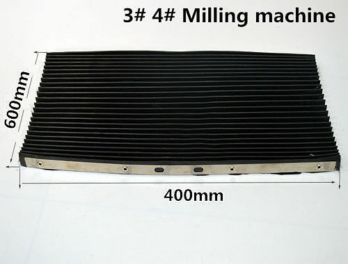 1X Bridgeport Milling Machine Part Accordion Type Way Mill Rubber Cover 400*600 Lathe Machine CNC Milling