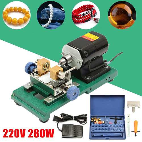 280W 220V 60Hz Pearl Drilling Holing Machine Driller Bead Jewelry Punch Engraving Engraver Machine Tools