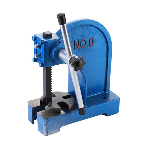 1T Manual Desktop Hand Punch Press Machine Metal Arbor Press Tool Multifunctional Metal Leather Die Cutting Punching Machine