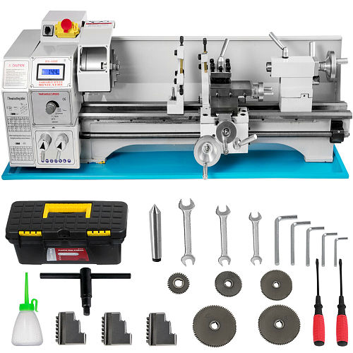 1100W Mini  Metal Lathe  8.7 x23.6  1.1KW For Counter Face Turning Driling