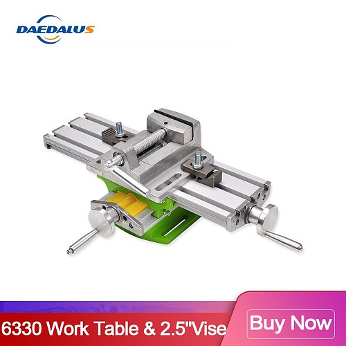 Daedalus 6330 Aluminum Bench Wood Working Fixture Work table X Y Axis Adjustment Precision Coordinate & 2.5'' Flat Tongs Vise