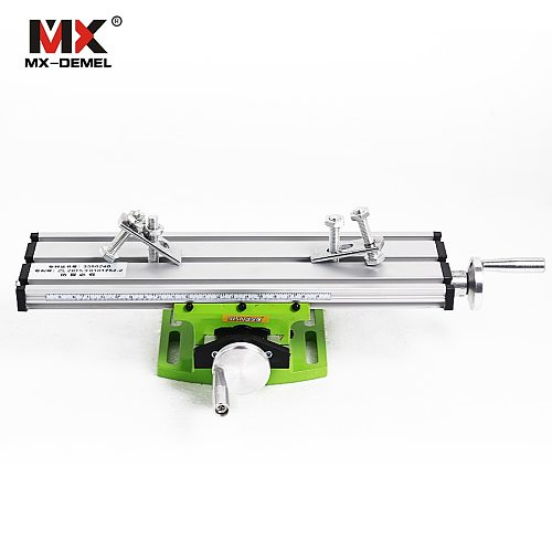 Miniature Precision Multifunction Milling Machine Bench Drill Vise Fixture Worktable X Y-Axis Adjustment Coordinate Table Drill