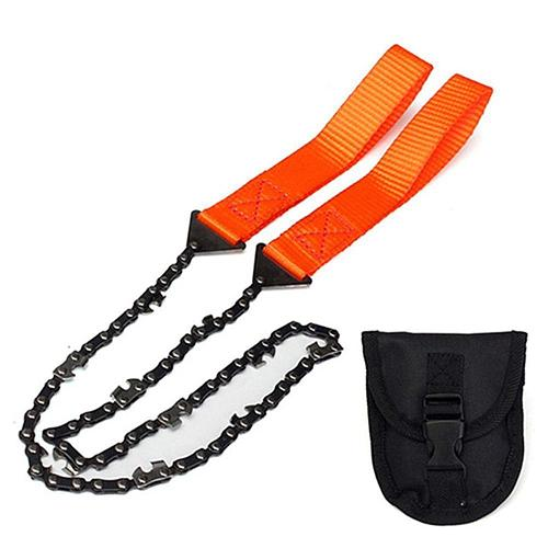 Portable Survival Chain Saw Chainsaws Emergency Camping Pocket Hand Tool Pouch Outdoor 146g