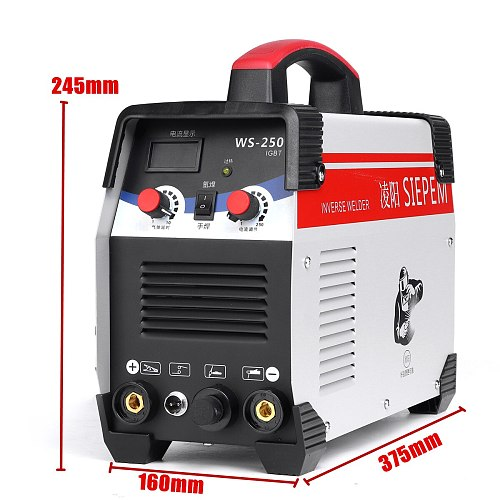 2 In 1 ARC TIG IGBT Inverter Arc Electric Welding Machine 220V 250A MMA Welder for Welding Working Electric Working Power Tools