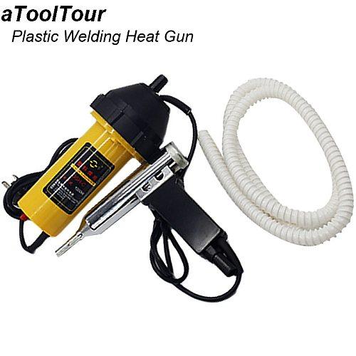 1000W Hot Air Gun for Plastic PP PE ABS PVC Welding Adjustable Temperature Heat Guns Welding Torch Gun with Nozzle Hose Kit