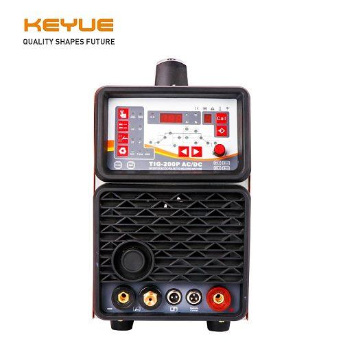 KEYUE TIG200P AC DC Portable Single Phase 220V Aluminum Welder Inverter Digital Pulse TIG MMA Welding machine Remote Control